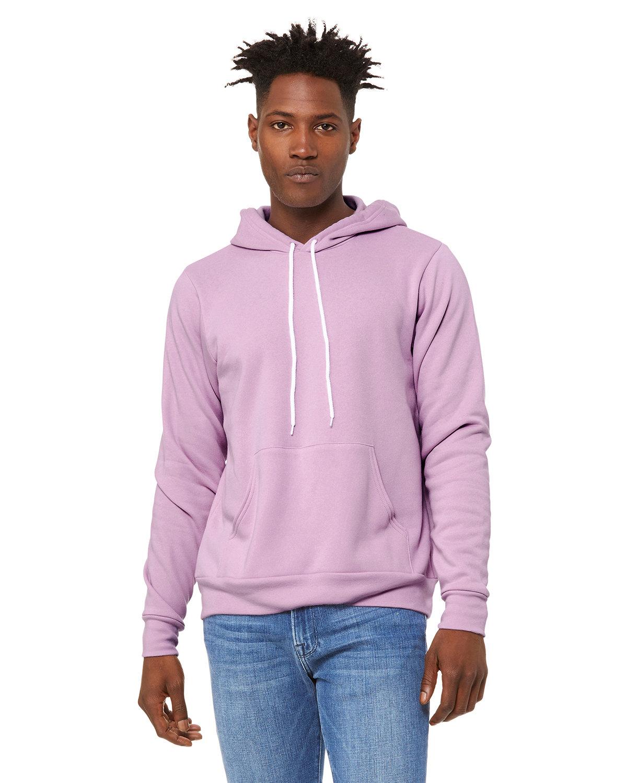 Bella + Canvas Unisex Sponge Fleece Pullover Hooded Sweatshirt LILAC