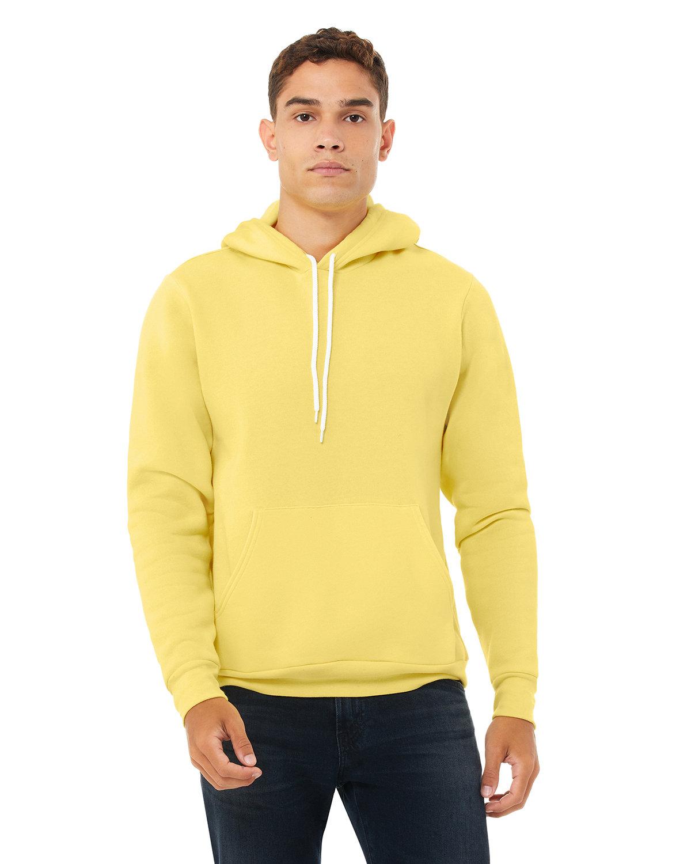 Bella + Canvas Unisex Sponge Fleece Pullover Hooded Sweatshirt YELLOW