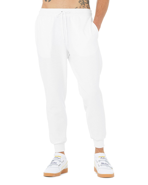 Bella + Canvas Unisex Jogger Sweatpant WHITE