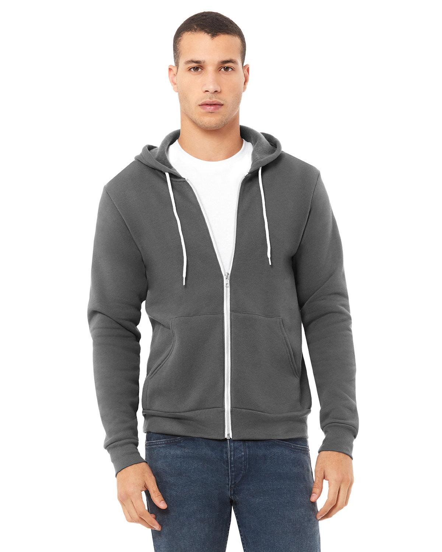 Bella + Canvas Unisex Poly-Cotton Fleece Full-Zip Hooded Sweatshirt ASPHALT