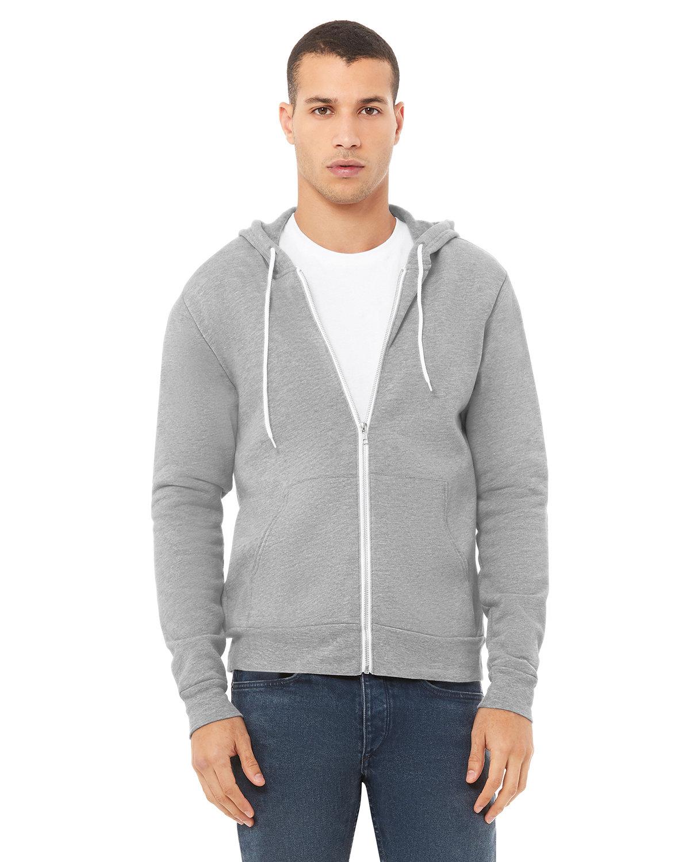 Bella + Canvas Unisex Poly-Cotton Fleece Full-Zip Hooded Sweatshirt ATHLETIC HEATHER