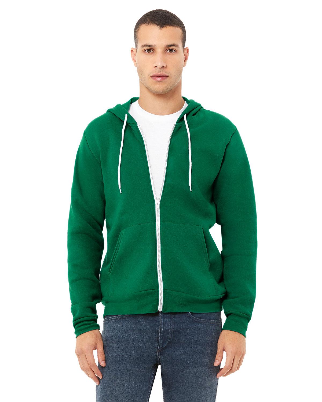 Bella + Canvas Unisex Poly-Cotton Fleece Full-Zip Hooded Sweatshirt KELLY