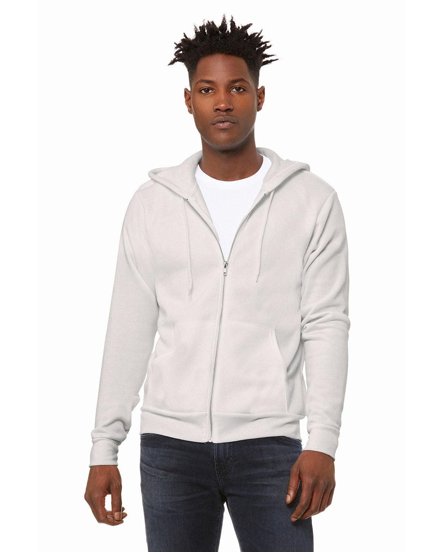 Bella + Canvas Unisex Poly-Cotton Fleece Full-Zip Hooded Sweatshirt VINTAGE WHITE