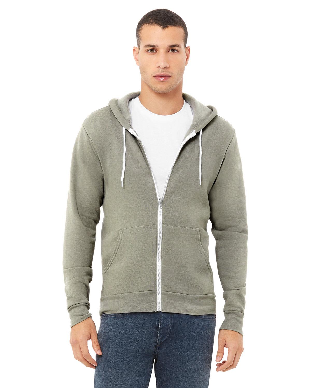 Bella + Canvas Unisex Poly-Cotton Fleece Full-Zip Hooded Sweatshirt HEATHER STONE