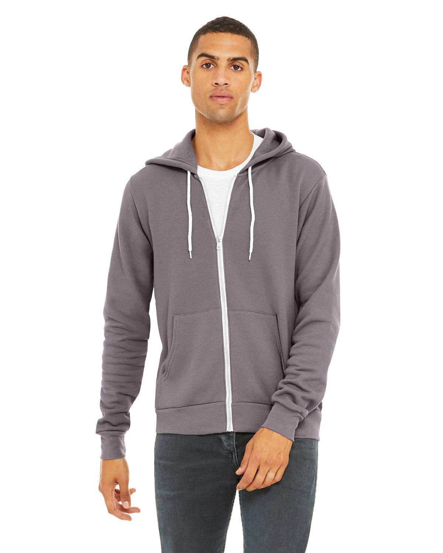 Bella + Canvas Unisex Poly-Cotton Fleece Full-Zip Hooded Sweatshirt STORM