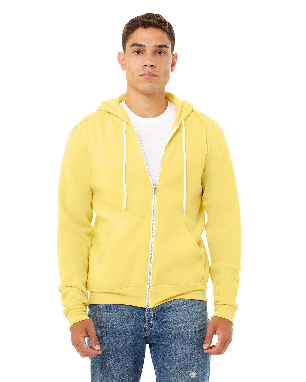 Bella + Canvas Unisex Poly-Cotton Fleece Full-Zip Hooded Sweatshirt YELLOW