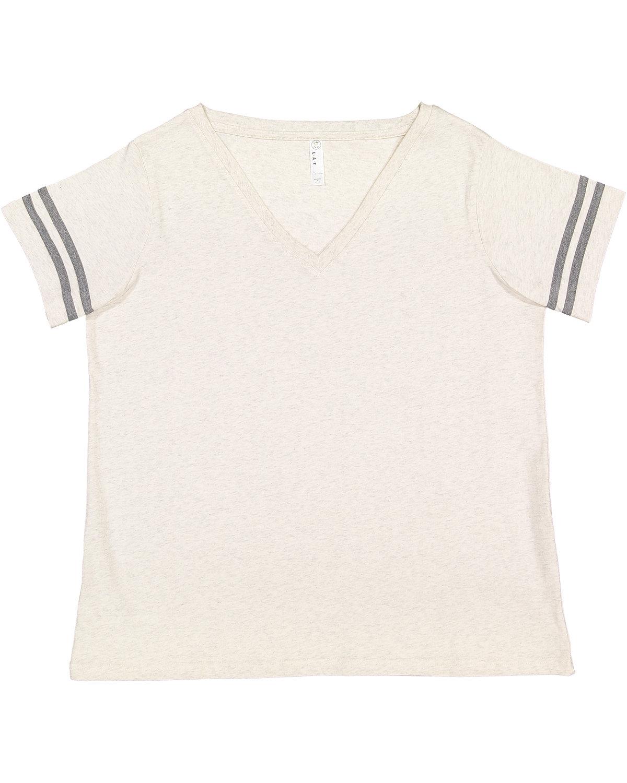 LAT Ladies' Curvy Football T-Shirt NAT HTH/ GRAN HT
