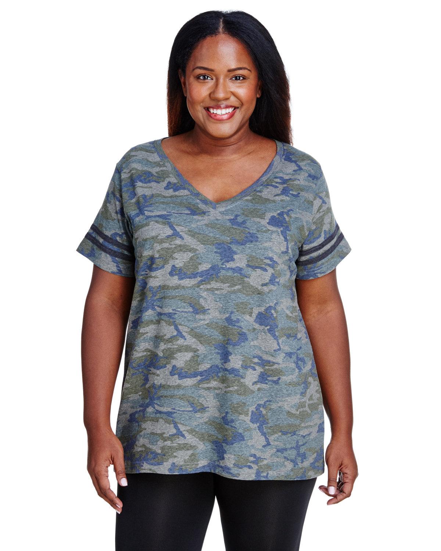 LAT Ladies' Curvy Football T-Shirt VN CAMO/ VN SMK