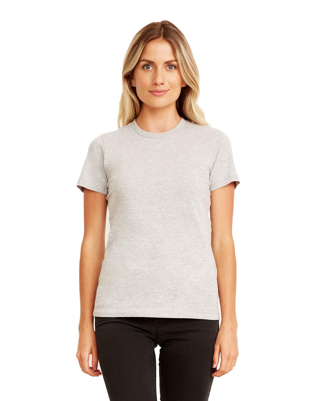 Next Level Ladies' Made in USA Boyfriend T-Shirt HEATHER GRAY