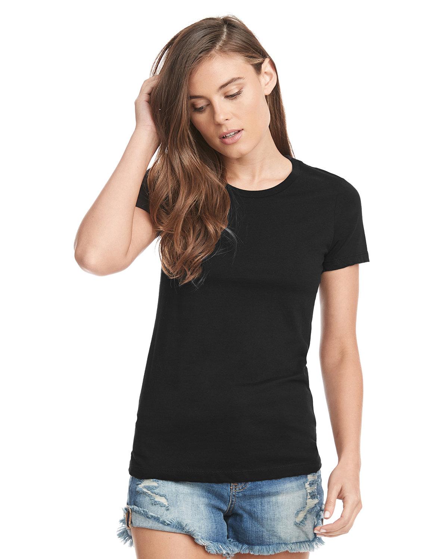 Next Level Ladies' Made in USA Boyfriend T-Shirt BLACK