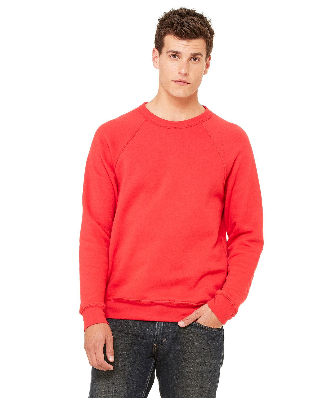 Bella + Canvas Unisex Sponge Fleece Crewneck Sweatshirt RED