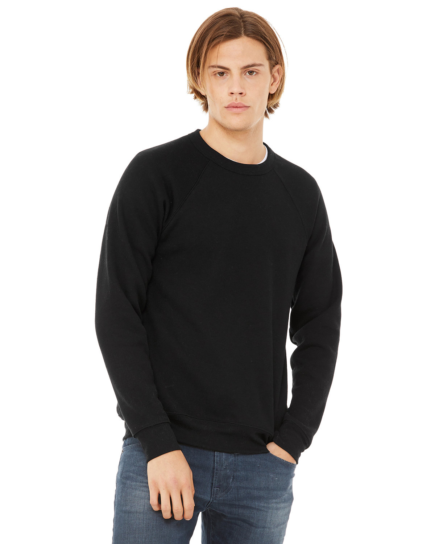 Bella + Canvas Unisex Sponge Fleece Crewneck Sweatshirt BLACK