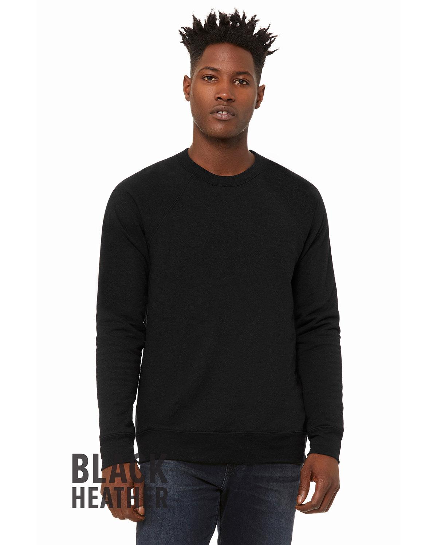 Bella + Canvas Unisex Sponge Fleece Crewneck Sweatshirt BLACK HEATHER