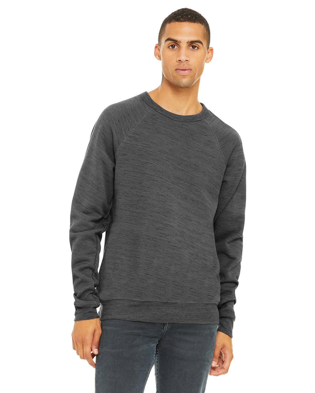 Bella + Canvas Unisex Sponge Fleece Crewneck Sweatshirt DK GRY MRBLE FLC