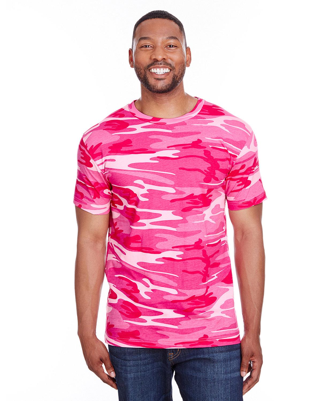 Code Five Men's Camo T-Shirt PINK  WOODLAND