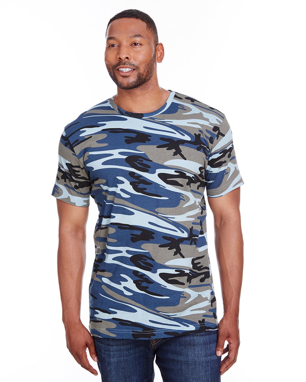 Code Five Men's Camo T-Shirt BLUE WOODLAND