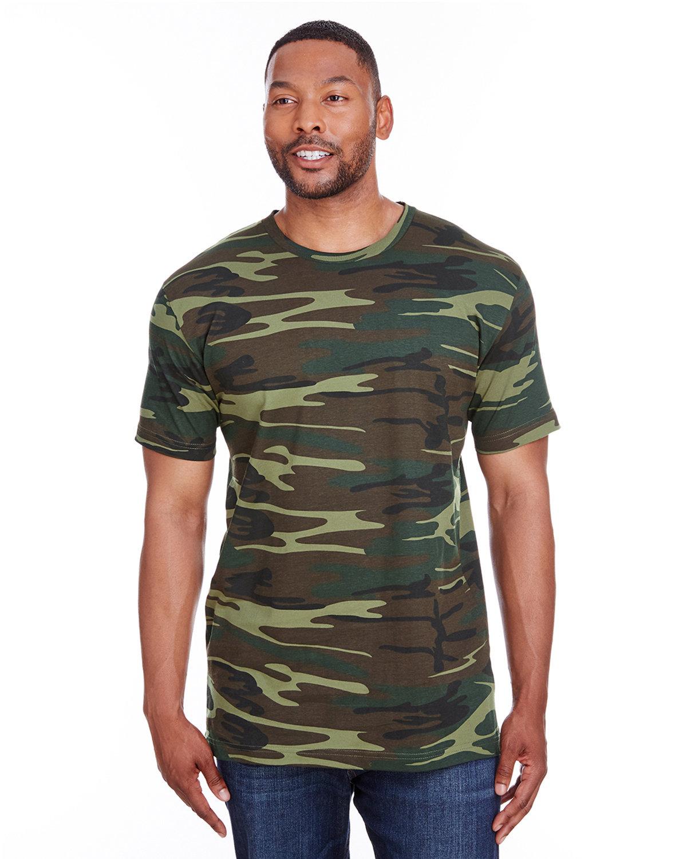 Code Five Men's Camo T-Shirt GREEN WOODLAND