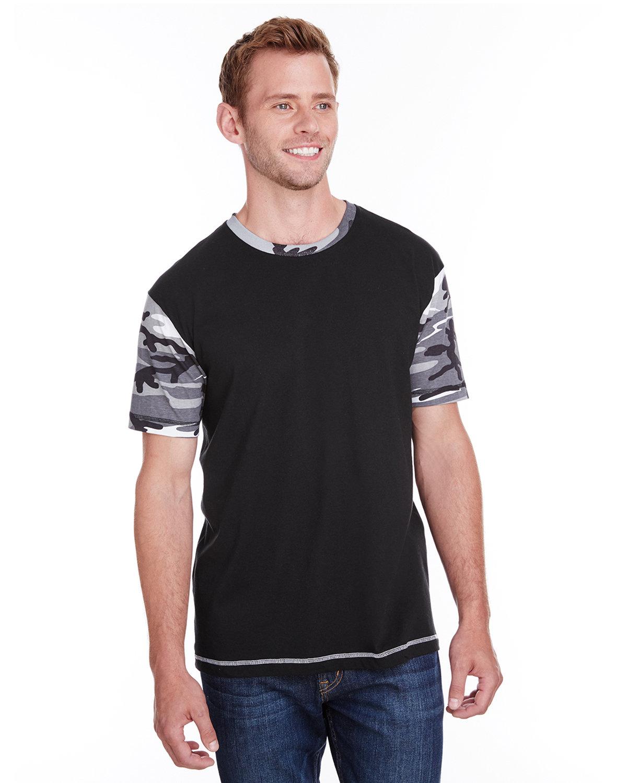 Code Five Men's Adult Fashion Camo T-Shirt BLK/ URBN WD/ RD