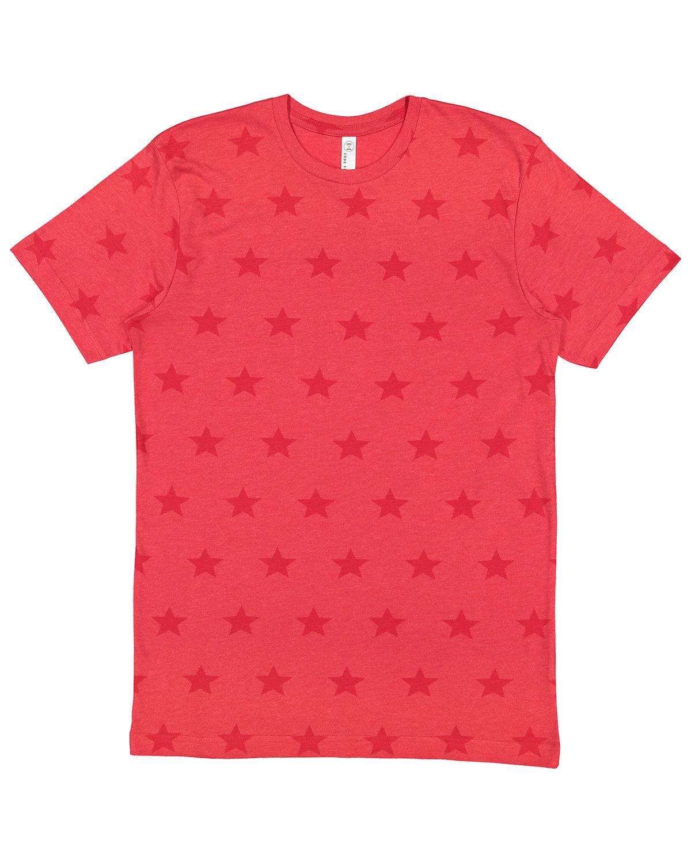 Code Five Mens' Five Star T-Shirt RED STAR