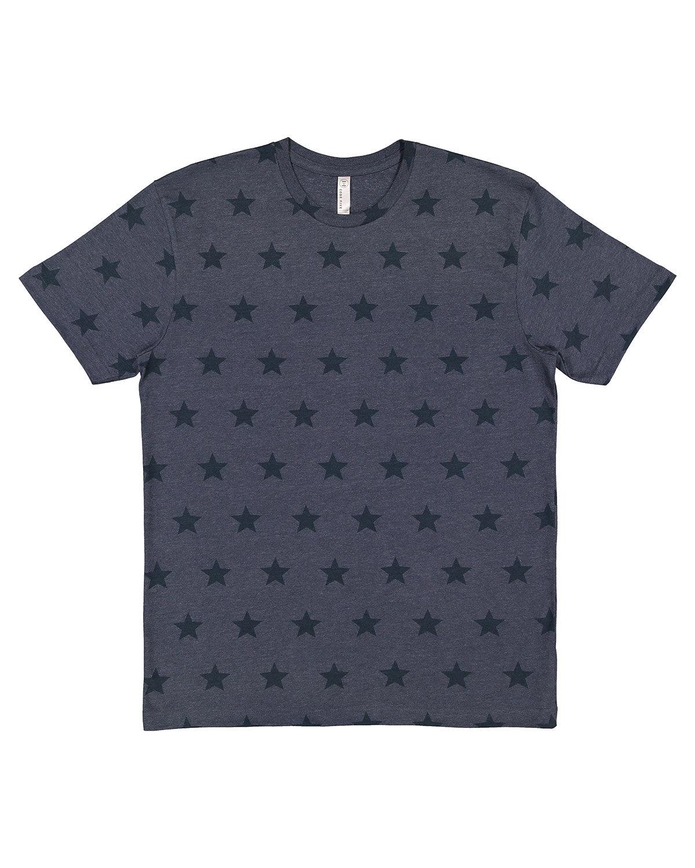 Code Five Mens' Five Star T-Shirt DENIM STAR