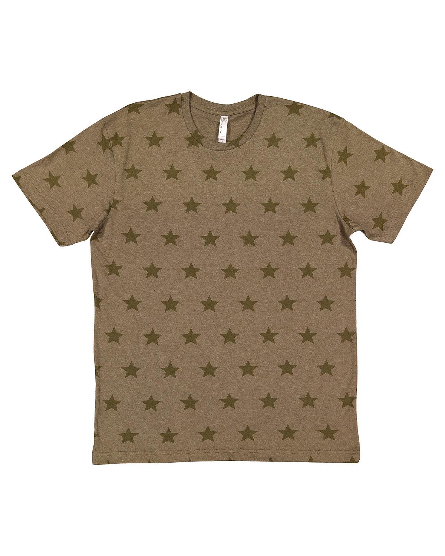 Code Five Mens' Five Star T-Shirt MILTARY GRN STAR