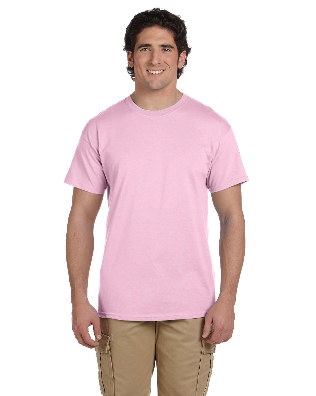 Fruit of the Loom Adult HD Cotton™ T-Shirt CLASSIC PINK