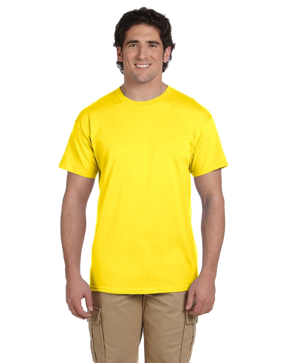 Fruit of the Loom Adult HD Cotton™ T-Shirt YELLOW