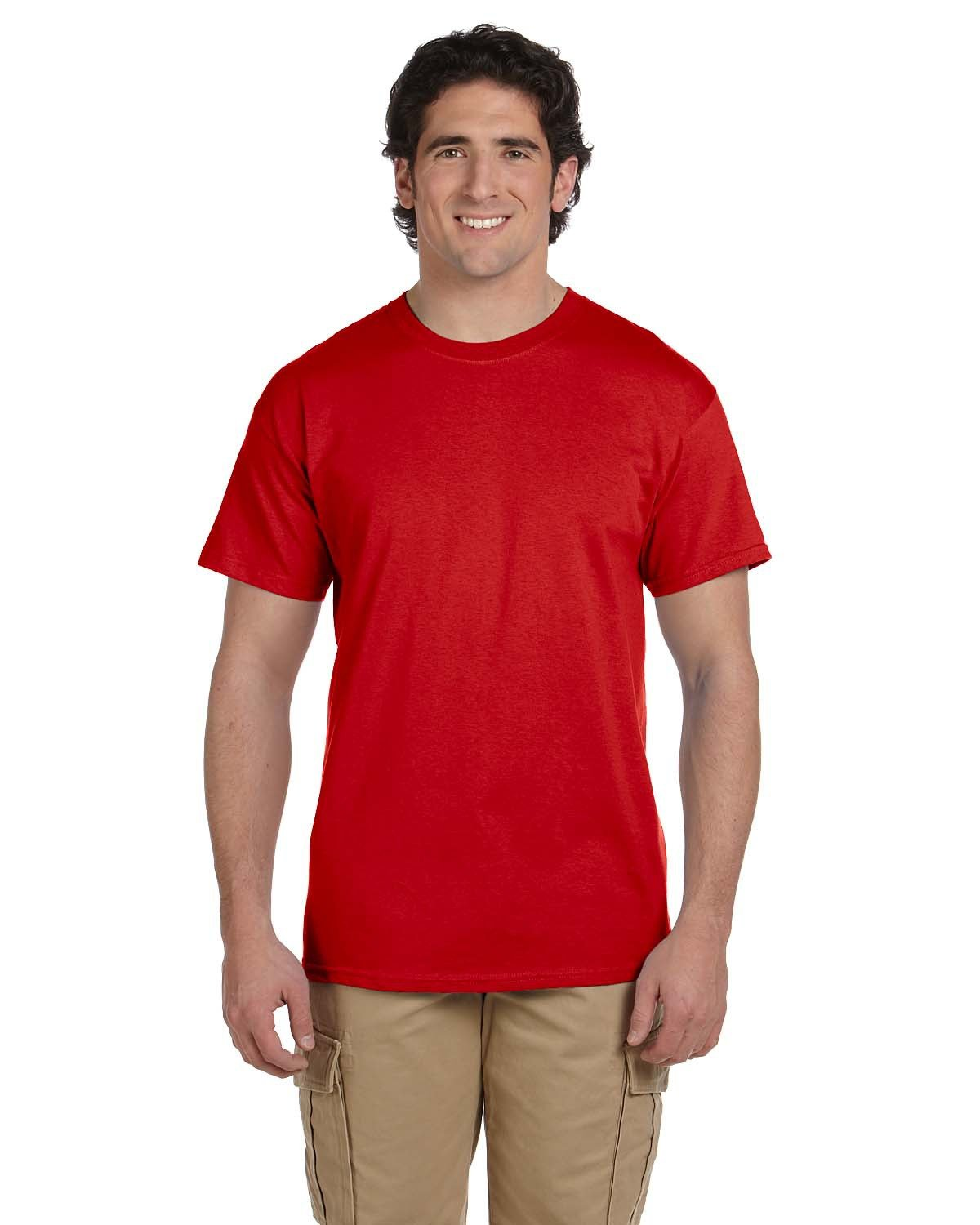 Fruit of the Loom Adult HD Cotton™ T-Shirt TRUE RED