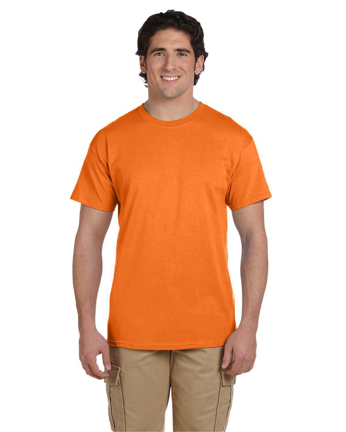 Fruit of the Loom Adult HD Cotton™ T-Shirt SAFETY ORANGE