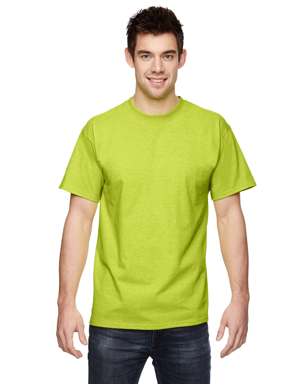 Fruit of the Loom Adult HD Cotton™ T-Shirt SAFETY GREEN