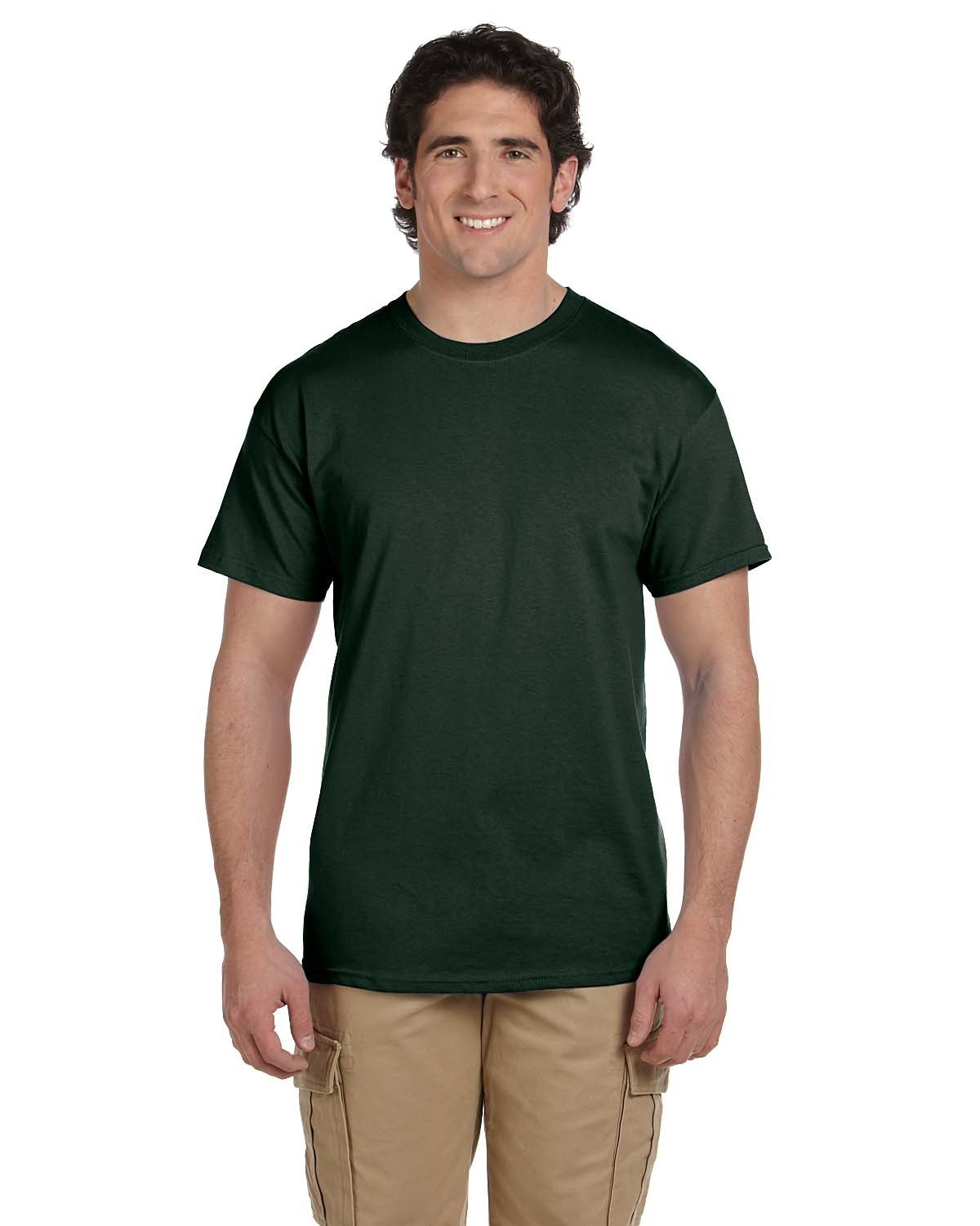 Fruit of the Loom Adult HD Cotton™ T-Shirt FOREST GREEN