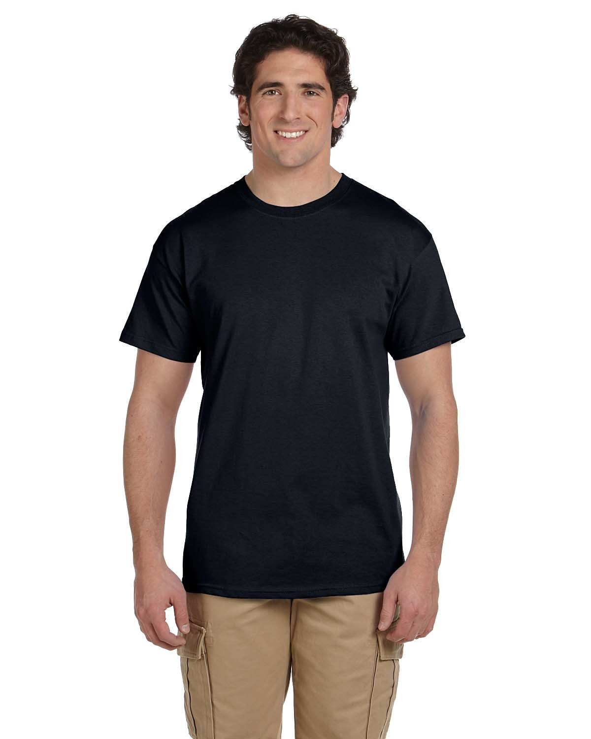Fruit of the Loom Adult HD Cotton™ T-Shirt BLACK