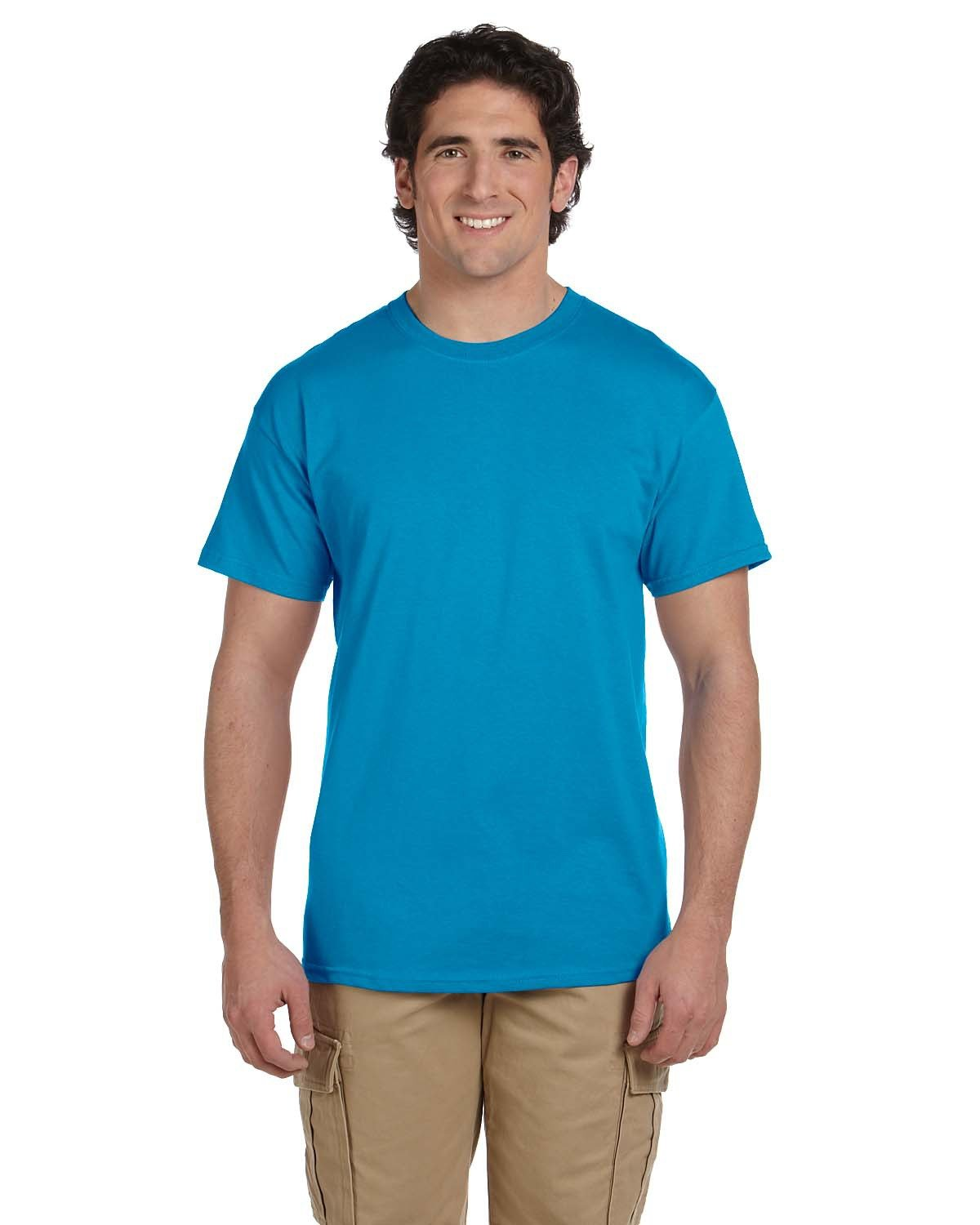 Fruit of the Loom Adult HD Cotton™ T-Shirt PACIFIC BLUE