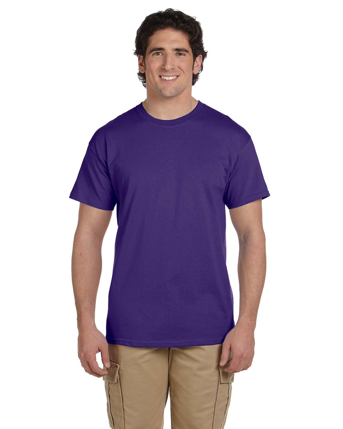 Fruit of the Loom Adult HD Cotton™ T-Shirt PURPLE