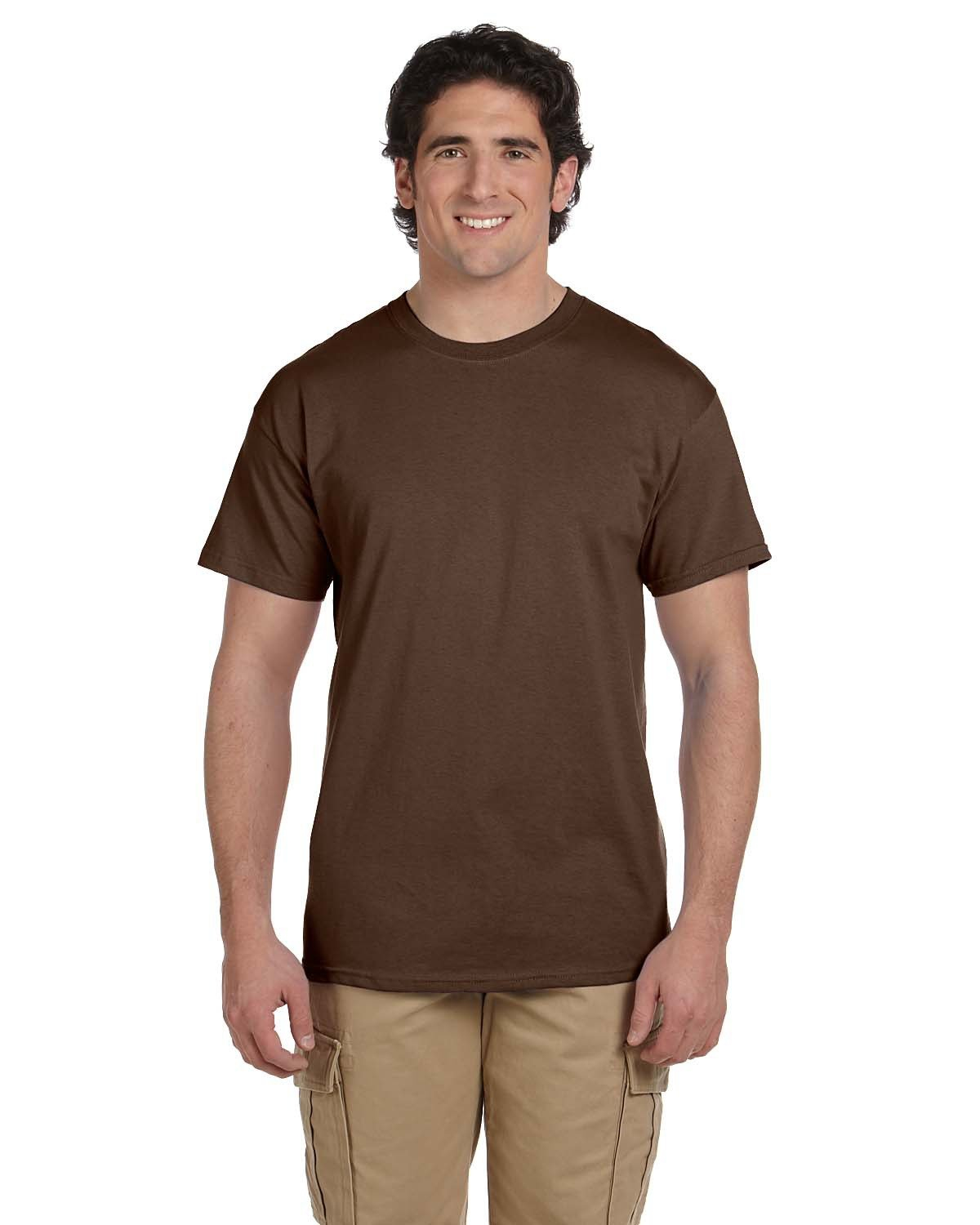 Fruit of the Loom Adult HD Cotton™ T-Shirt CHOCOLATE