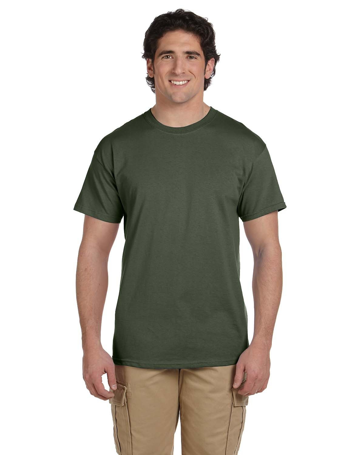 Fruit of the Loom Adult HD Cotton™ T-Shirt MILITARY GREEN