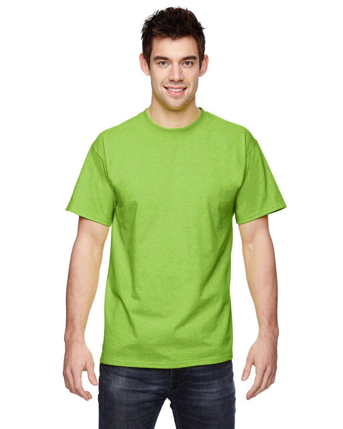 Fruit of the Loom Adult HD Cotton™ T-Shirt NEON GREEN