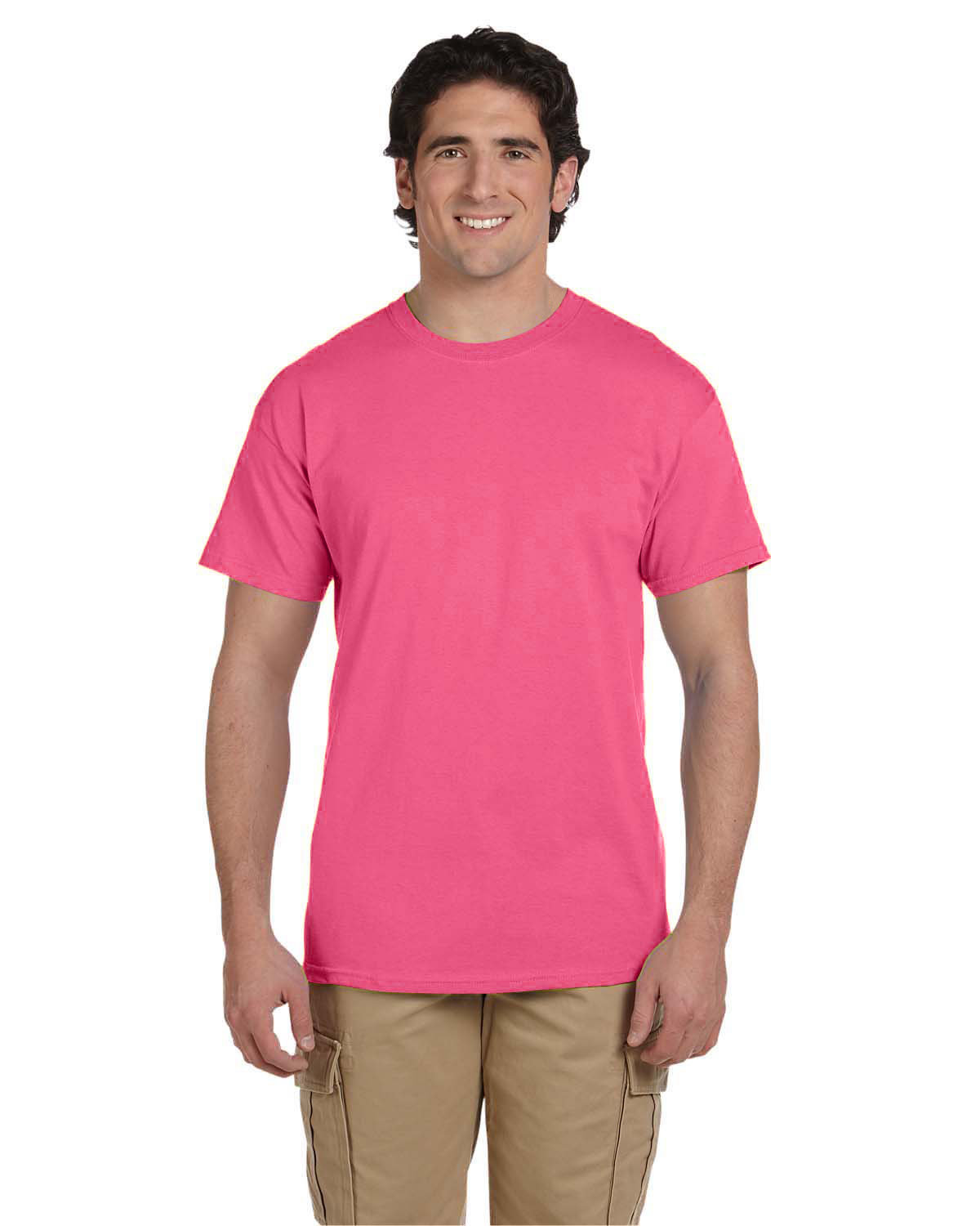 Fruit of the Loom Adult HD Cotton™ T-Shirt NEON PINK
