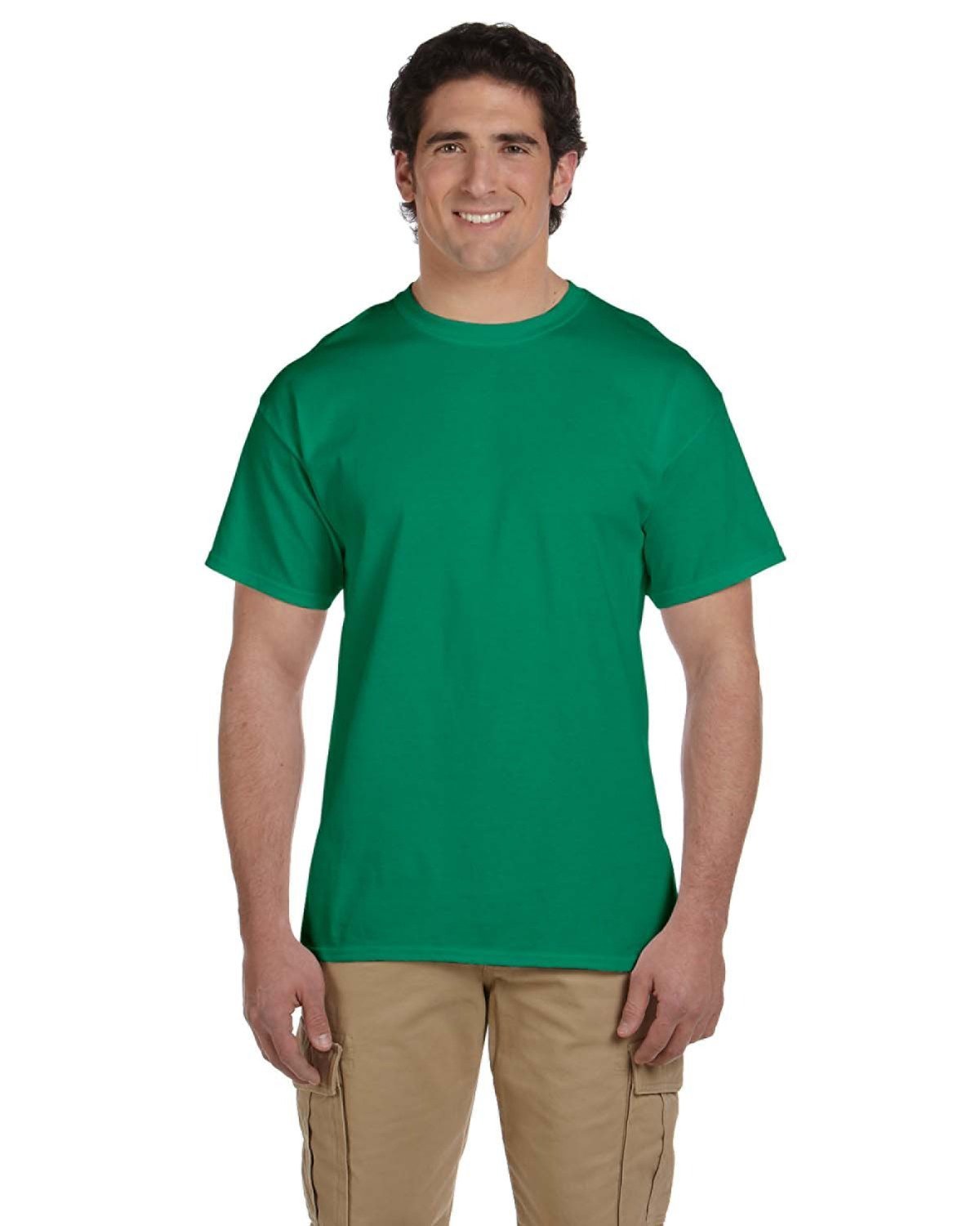 Fruit of the Loom Adult HD Cotton™ T-Shirt RETRO HTH GREEN