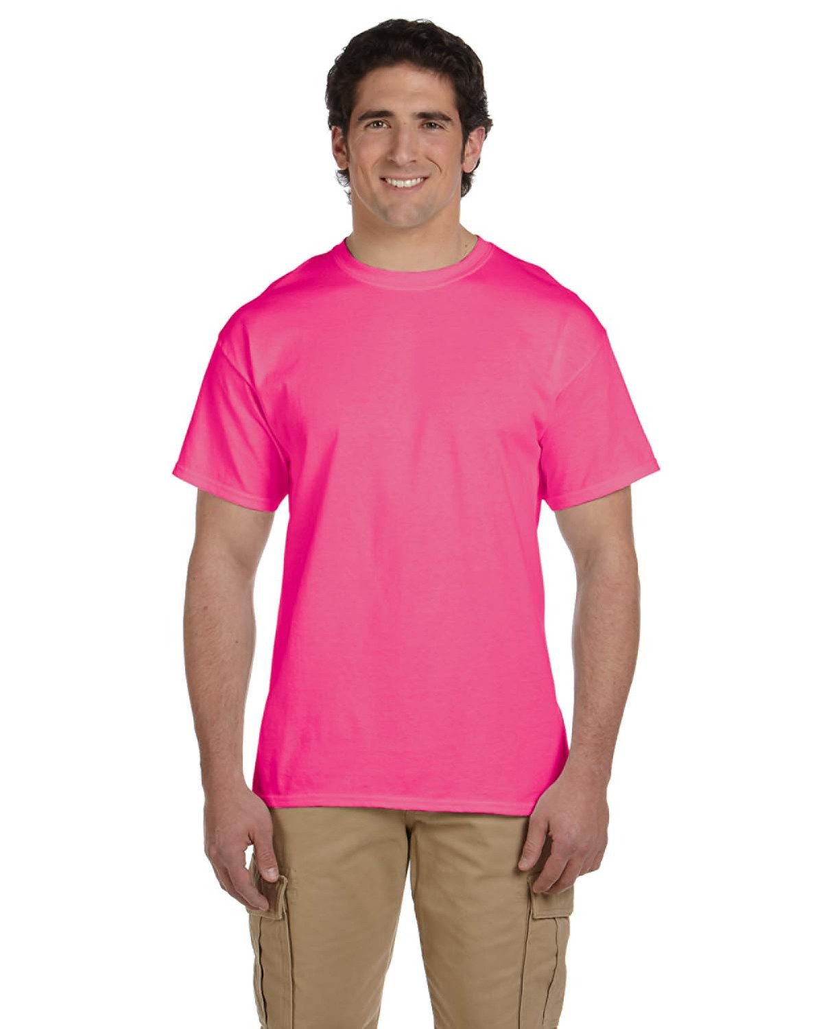 Fruit of the Loom Adult HD Cotton™ T-Shirt RETRO HTH PINK