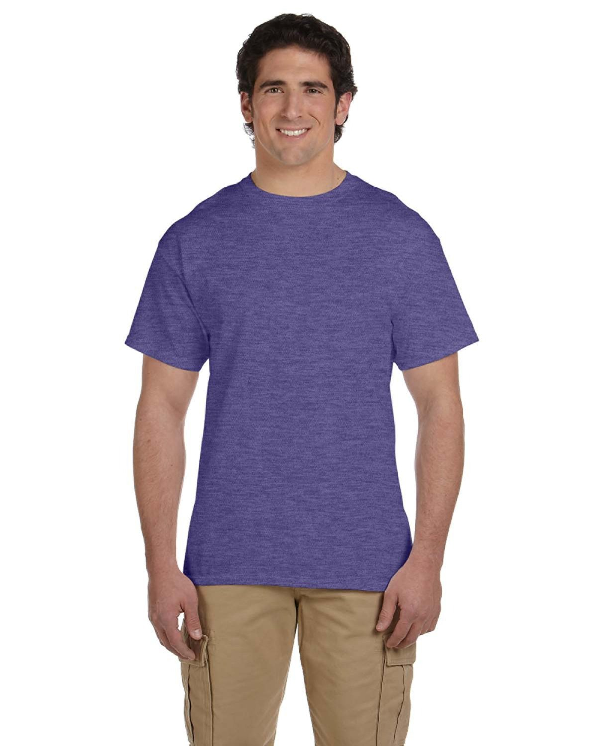 Fruit of the Loom Adult HD Cotton™ T-Shirt RETRO HTH PURP
