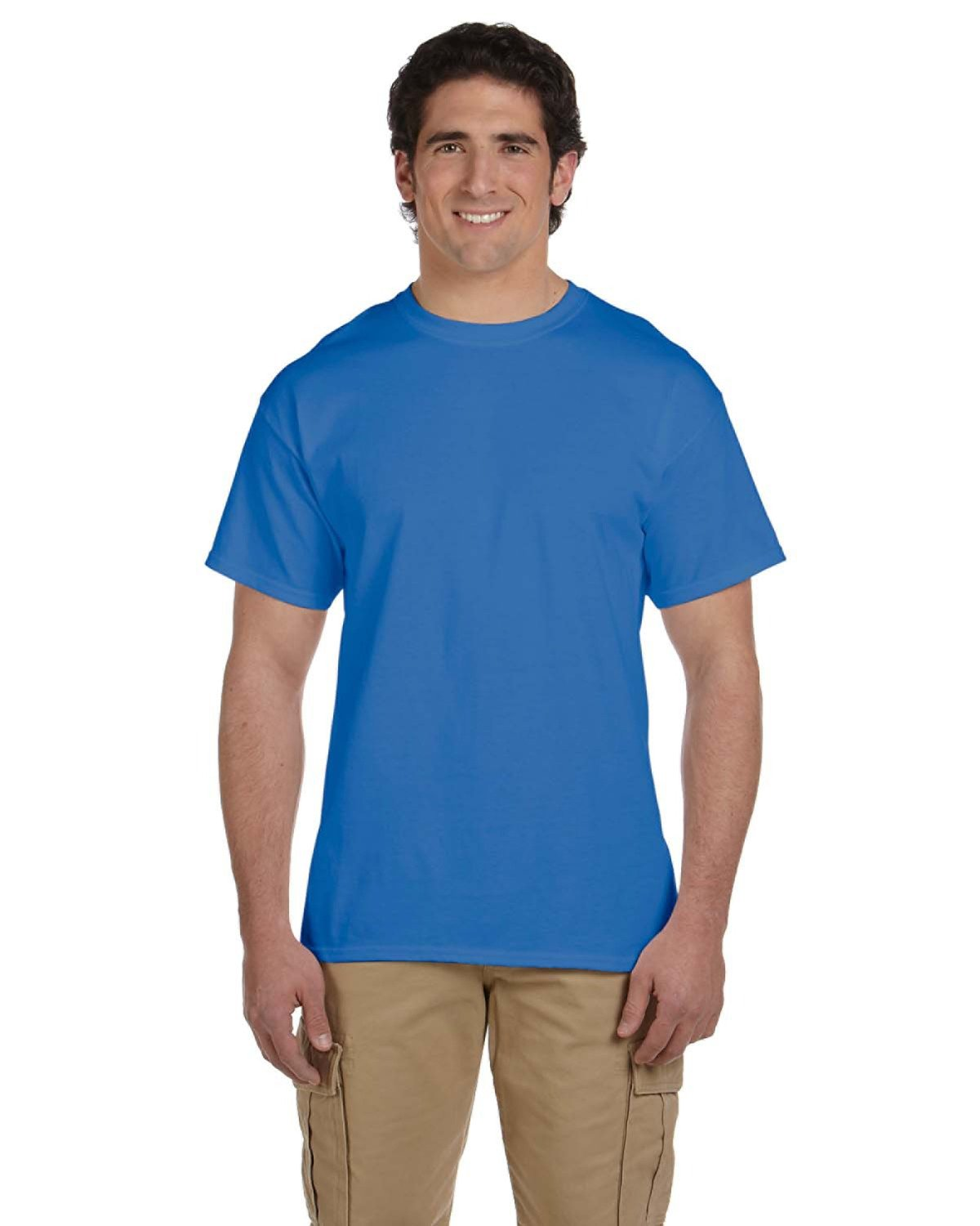 Fruit of the Loom Adult HD Cotton™ T-Shirt RETRO HTH ROYAL