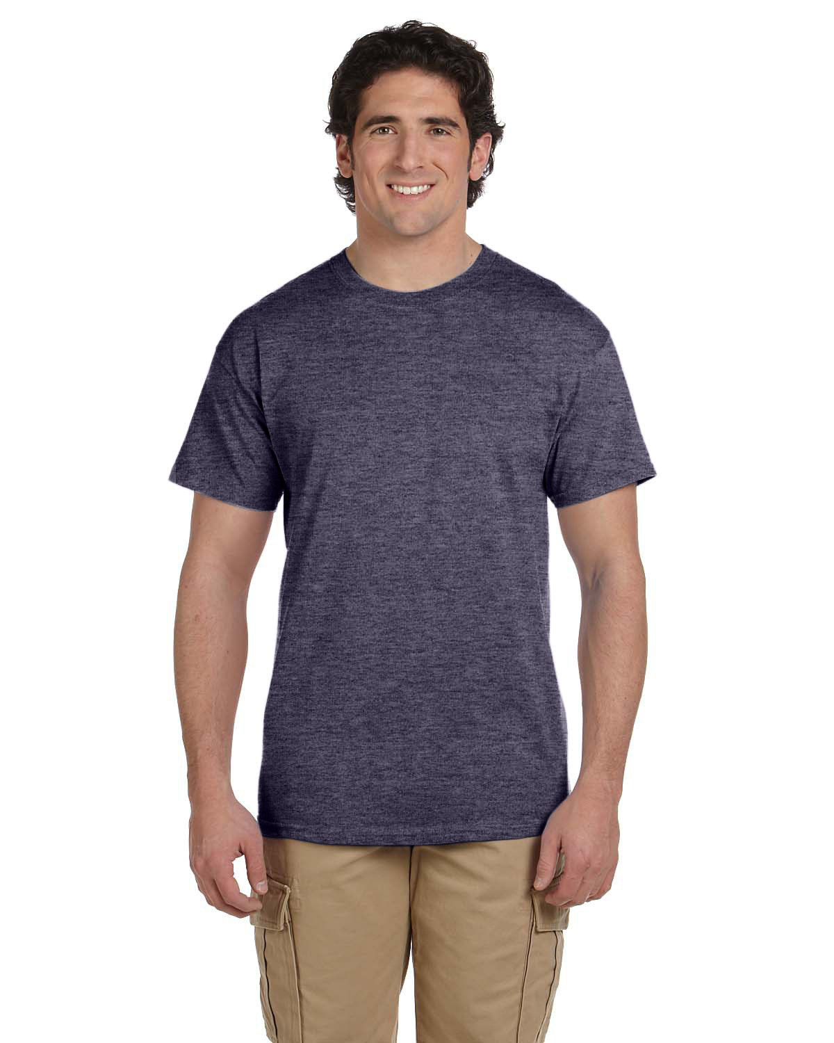 Fruit of the Loom Adult HD Cotton™ T-Shirt VINTAGE HTR NAVY