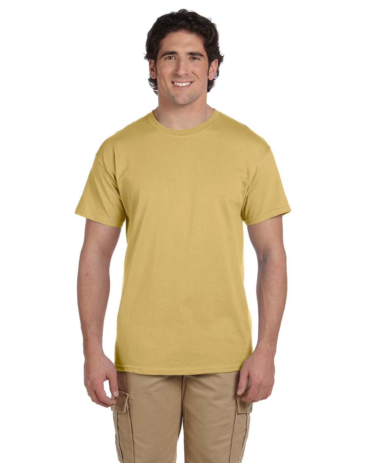 Fruit of the Loom Adult HD Cotton™ T-Shirt NEW GOLD