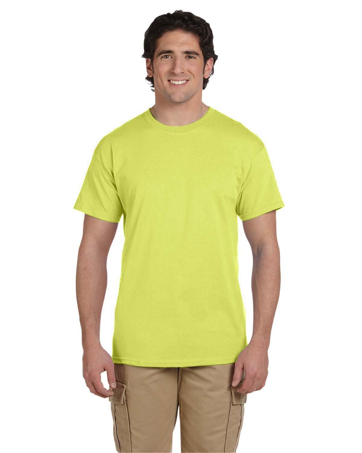 Fruit of the Loom Adult HD Cotton™ T-Shirt NEON YELLOW