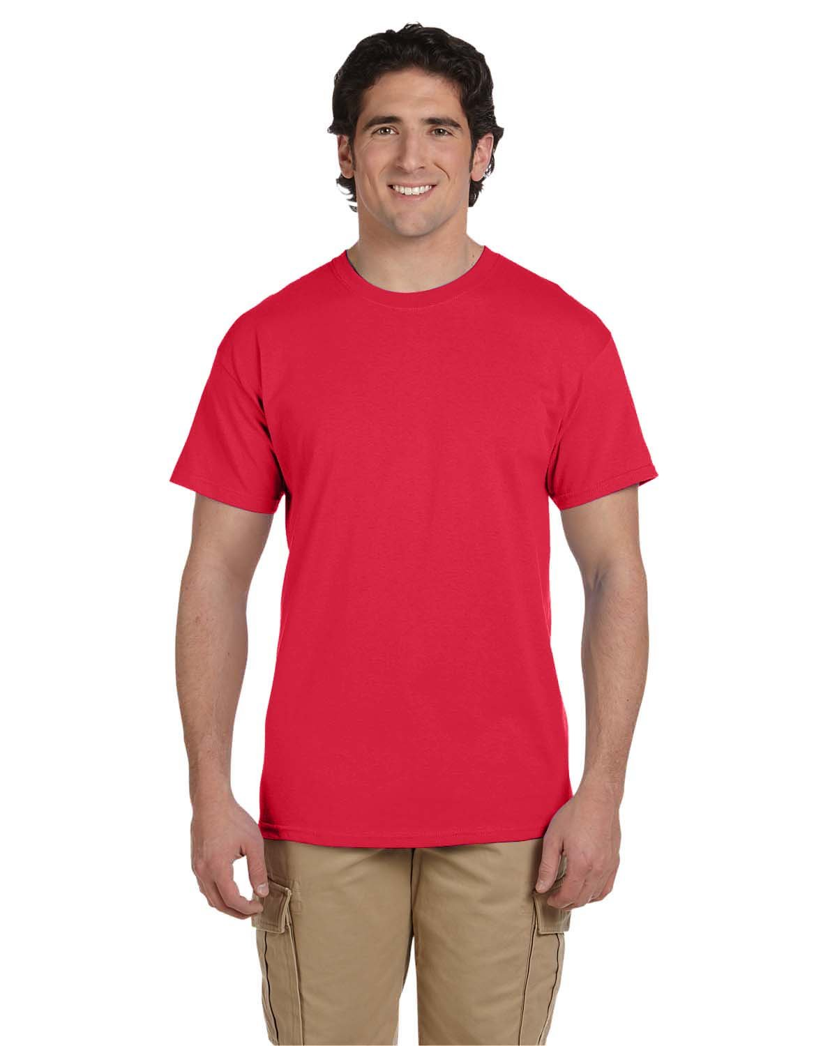 Fruit of the Loom Adult HD Cotton™ T-Shirt FIERY RED