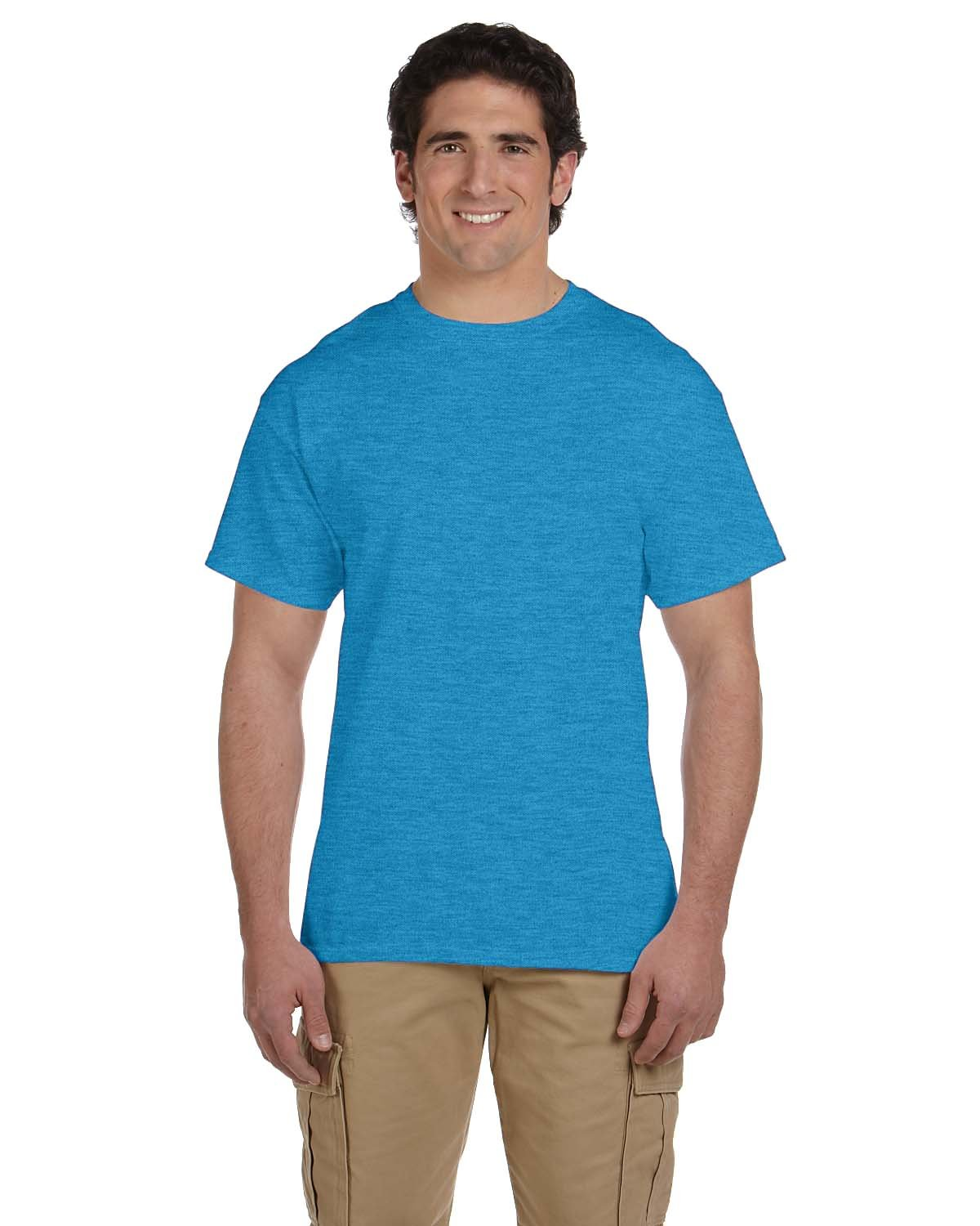 Fruit of the Loom Adult HD Cotton™ T-Shirt TURQUOISE HTHR
