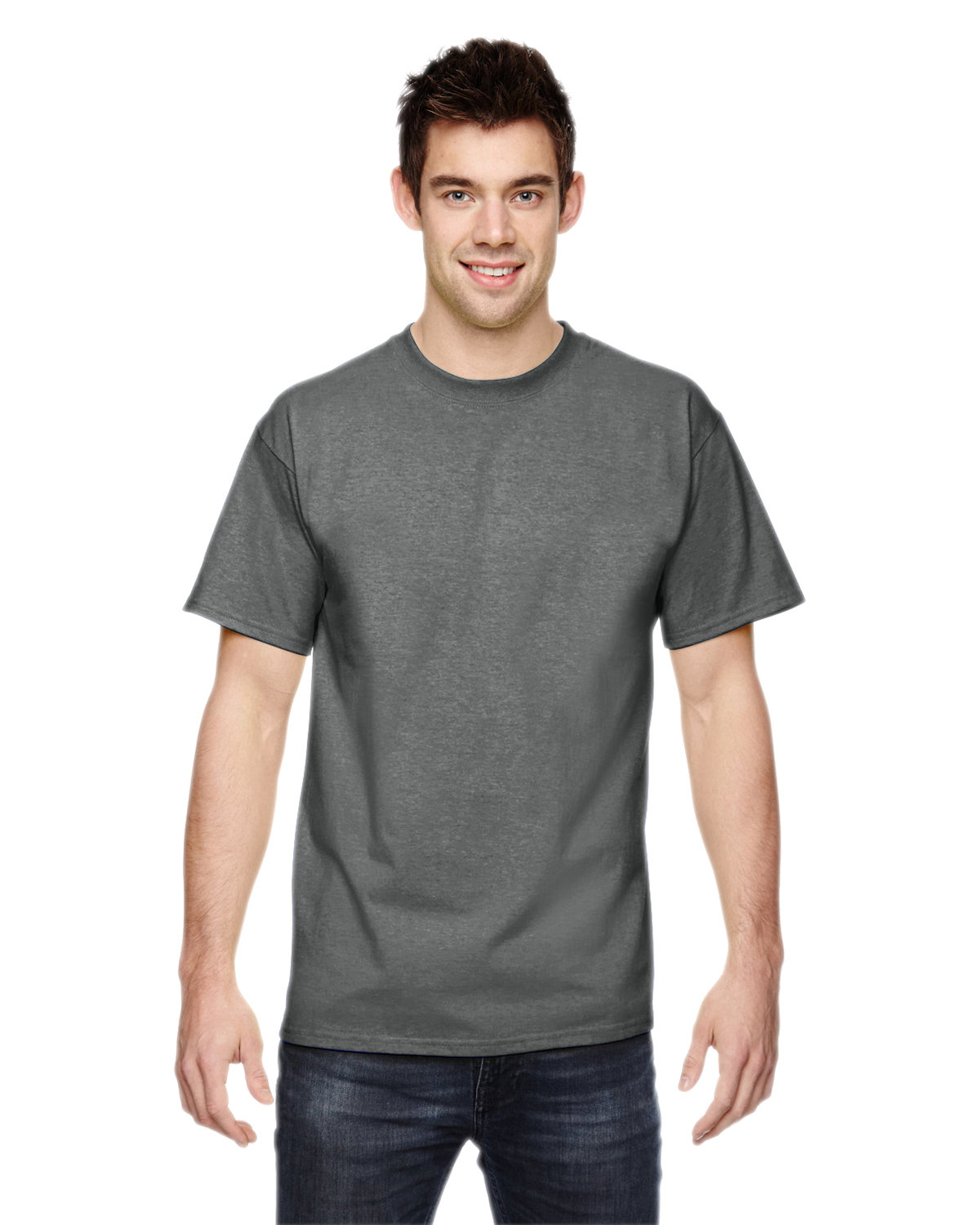 Fruit of the Loom Adult HD Cotton™ T-Shirt GRAPHITE HEATHER