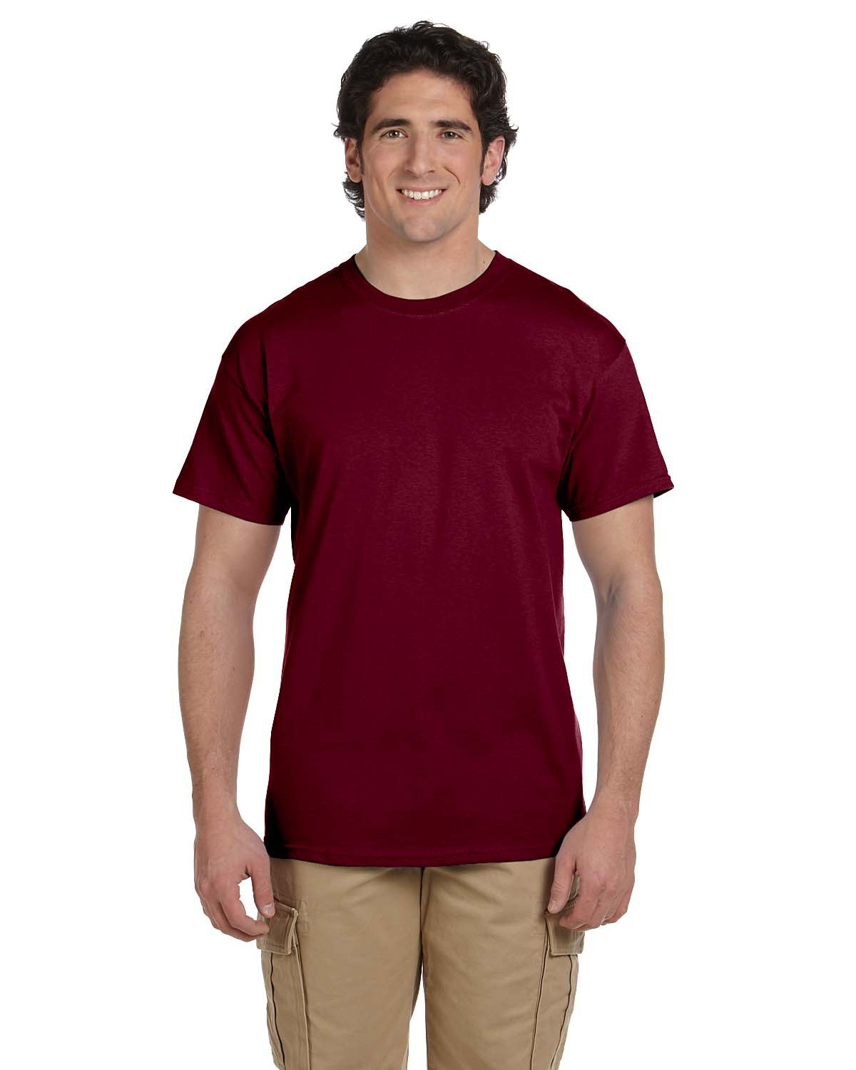 Fruit of the Loom Adult HD Cotton™ T-Shirt MAROON