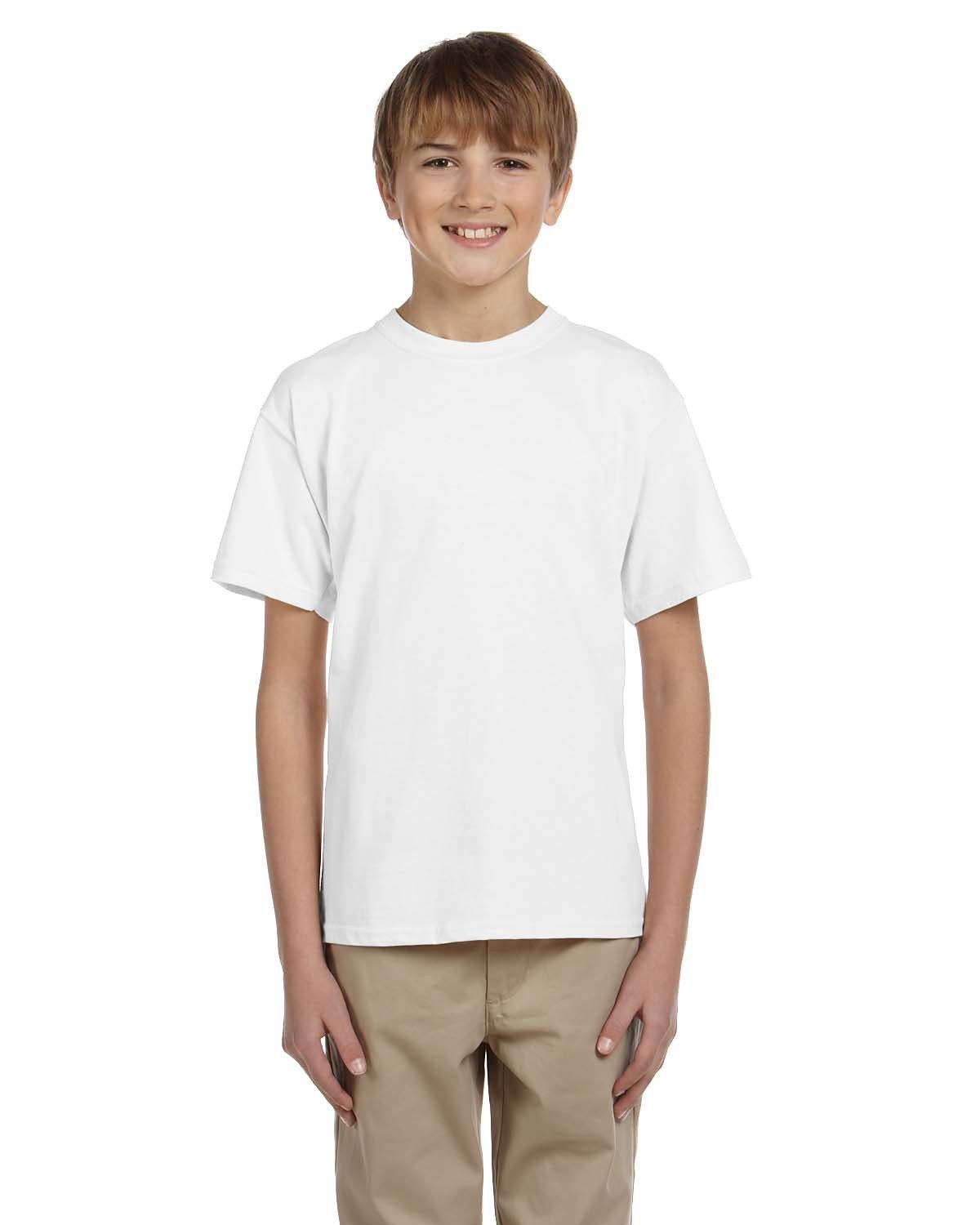 Fruit of the Loom Youth HD Cotton™ T-Shirt WHITE